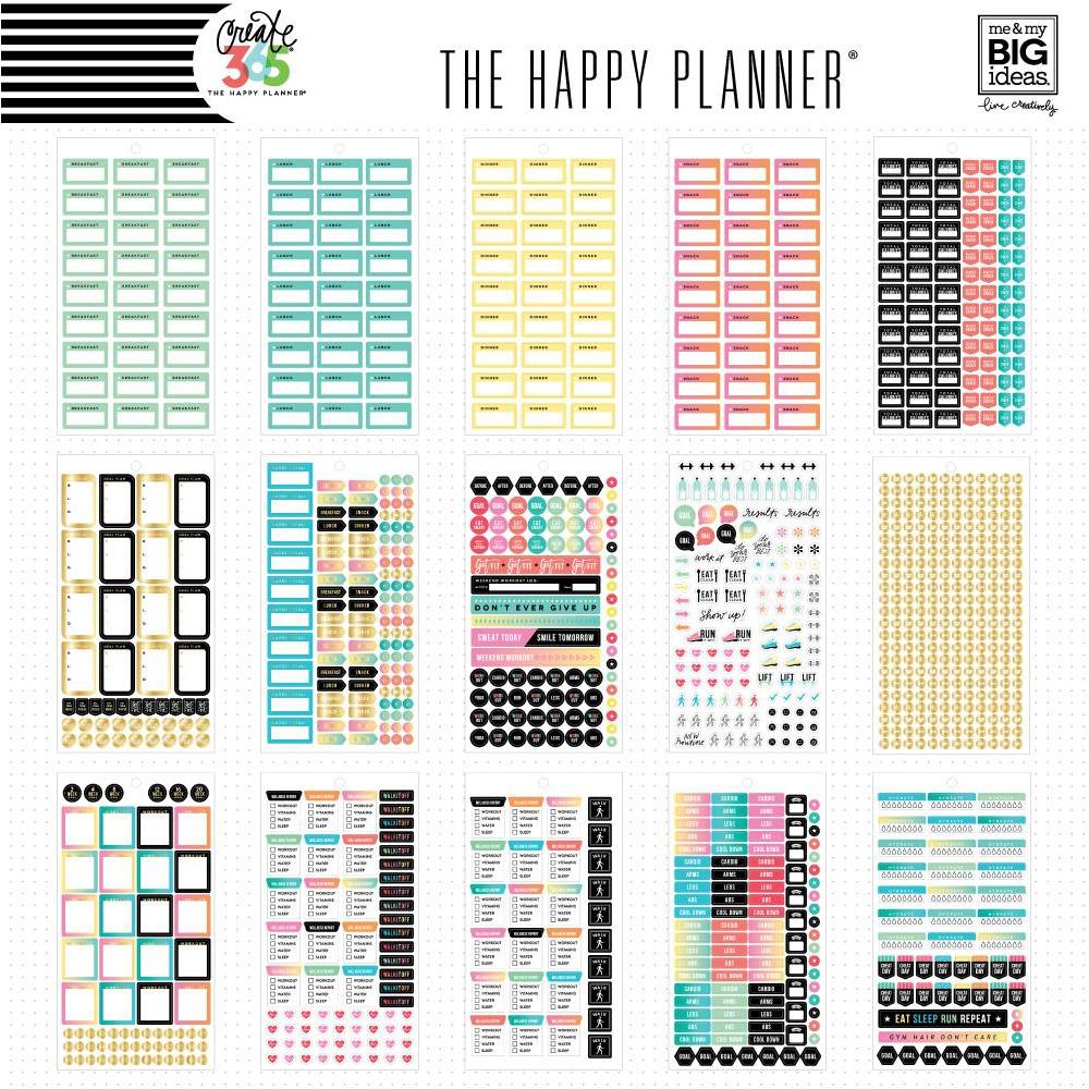 Me my big ideas create 365 happy planner sticker value for Me my big ideas planner