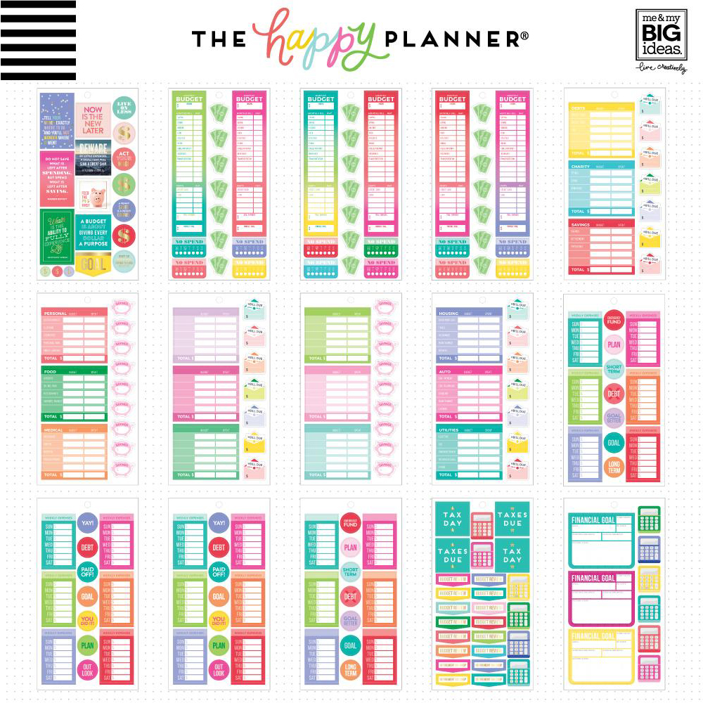 Me my big ideas 365 happy planner sticker value pack for Happy planner ideas