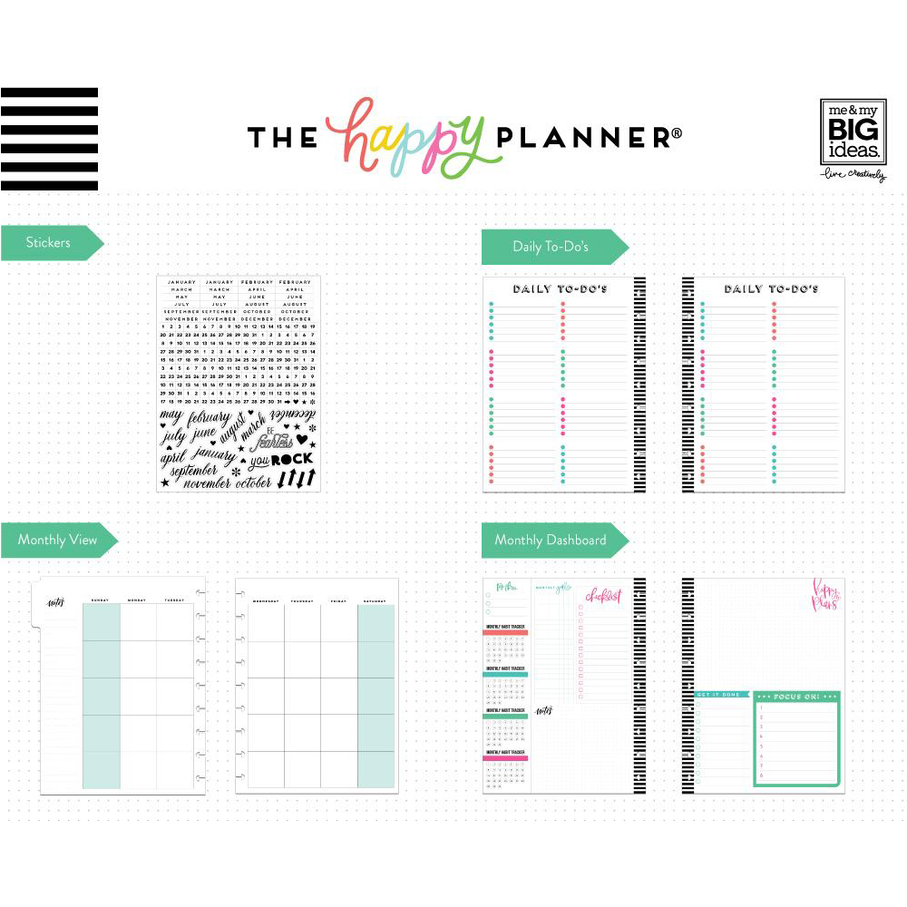 Me & My Big Ideas – Create 365 Happy Planner – Classic Planner Extension  Pack - Can do